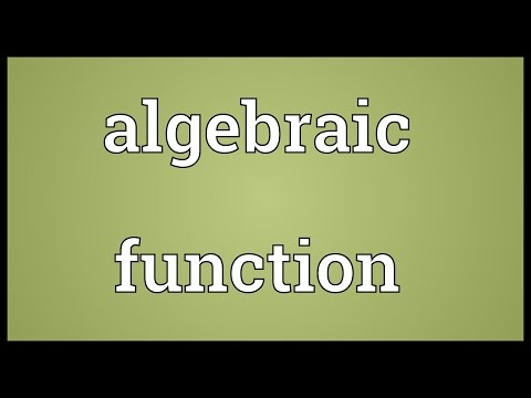 Header of algebraic function
