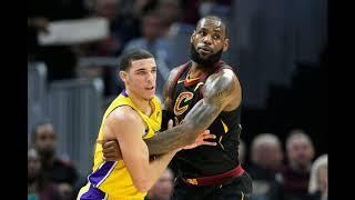 LeBron James meets Lonzo Ball his future teammate