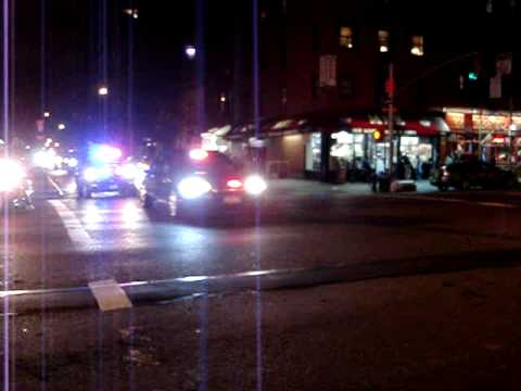NYC Motorcade For Unknown Person 50th St E And 2nd Ave. Manhattan