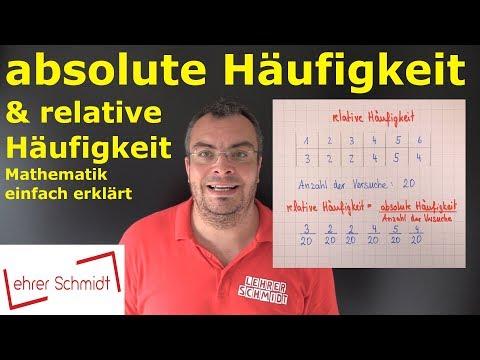 absolute Häufigkeit & relative Häufigkeit   Wahrscheinlichkeit - einfach erklärt   Lehrerschmidt