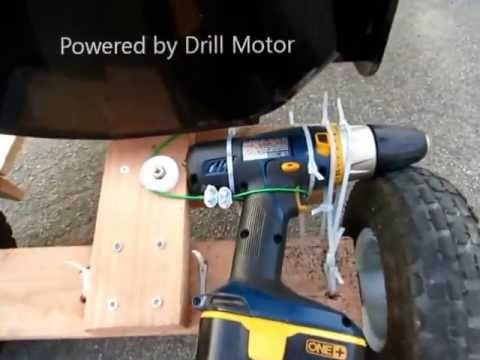 Diy Go Kart Powered By Drill Motor Youtube