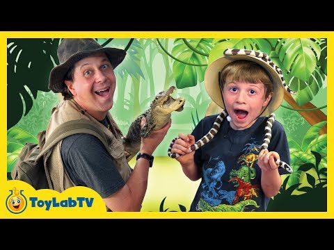 Awesome Gators & Amazing Reptiles at Wildlife Park, Kids Family Fun Playground & Surprise Toys Hunt