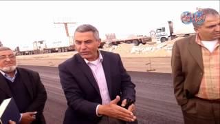 رئيس هيئة الطرق يتفقد أعمال تنفيذ طريق الشط عيون موسى