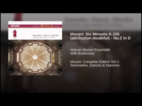 Mozart: Six Minuets K.105 (attribution doubtful) - No.2 in D (arr.from Michael Haydn)