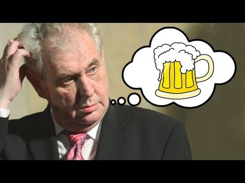 Czech president Milos Zeman drunk as a skunk!