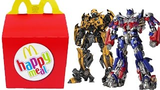 TRANSFORMERS Happy Meal Surprise Toys Optimus Prime BumbleBee Transformers Eggs Boys