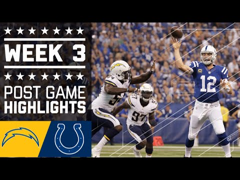 Chargers Vs Colts Nfl Week 3 Game Highlights