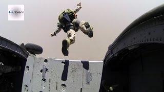 Marines Parachute Jump From A Uh 60 Blackhawk