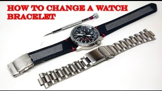 HOW TO CHANGE A WATCH BRACELET
