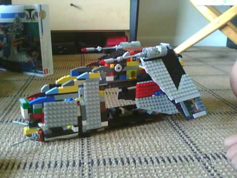 Lego Star Wars Custom Clone Gunship Lego Star Wars Custom Republic
