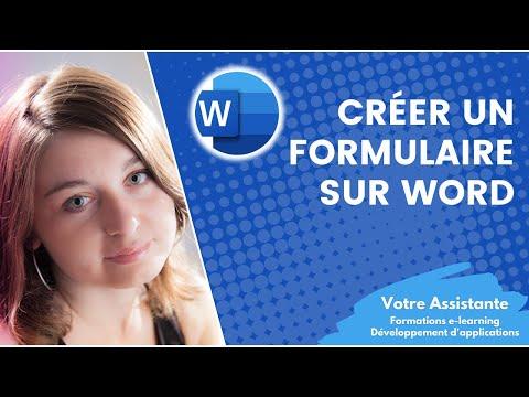 Créer un formulaire sous Word