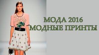 Мода 2016. Модные принты