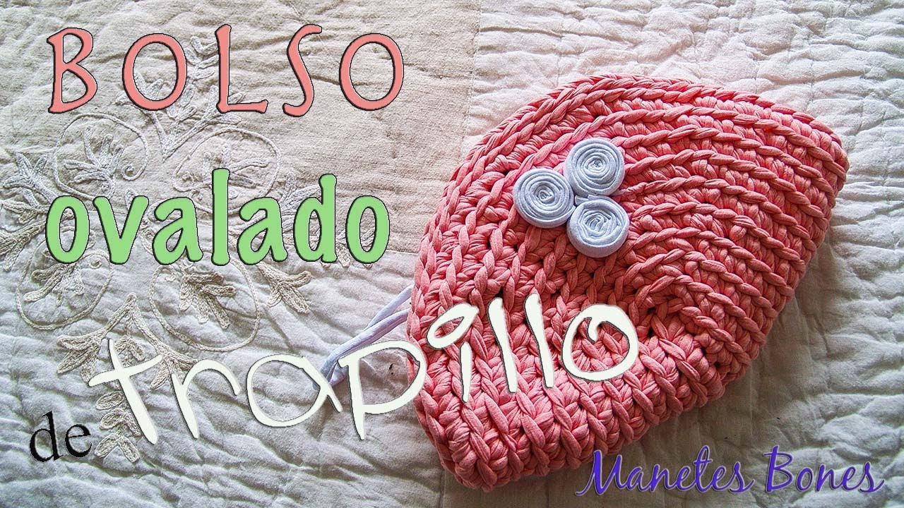 Bolso ovalado de trapillo Tutorial DIY Crochet XXL - YouTube
