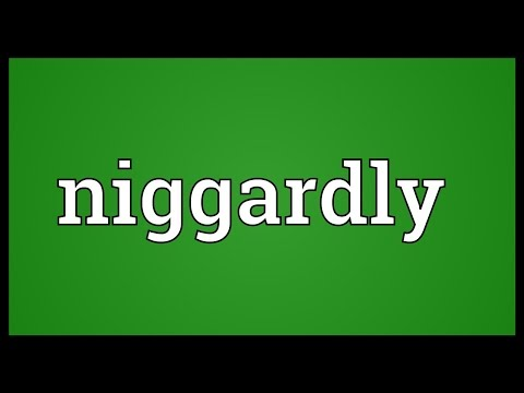 Header of niggardly