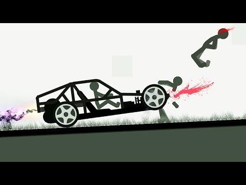 БЕШЕНЫЙ СТИКМЕН #5 КРУТАЯ МАШИНА мультфильм про машинки в смешной игре для детей на Android от FGTV