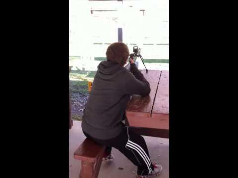 Grandson shooting the Socom 16