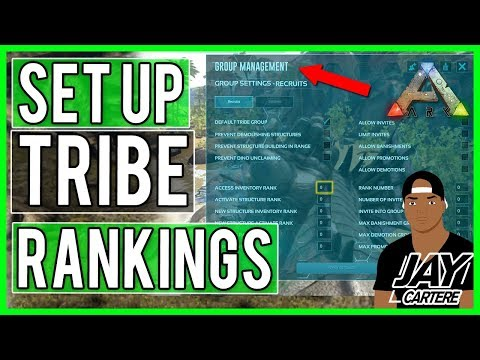 Ark Survival Evolved PS4 Tutorial - How To Set Up Tribe/Group Rankings - Ark Ranking System