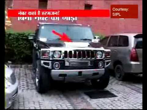 Harbhajan takes new hummer to road without number-plate