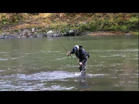 Winter steelhead fishing on the Wilson River - Leaky Waders Fishing