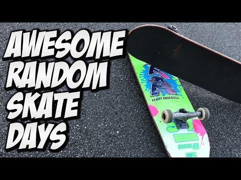 AWESOME RANDOM SKATE DAYS !!! - A DAY WITH NKA -