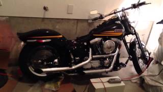 Harley Davidson Evolution 1340 BadBoy 1996 with screaming eagle exhaust