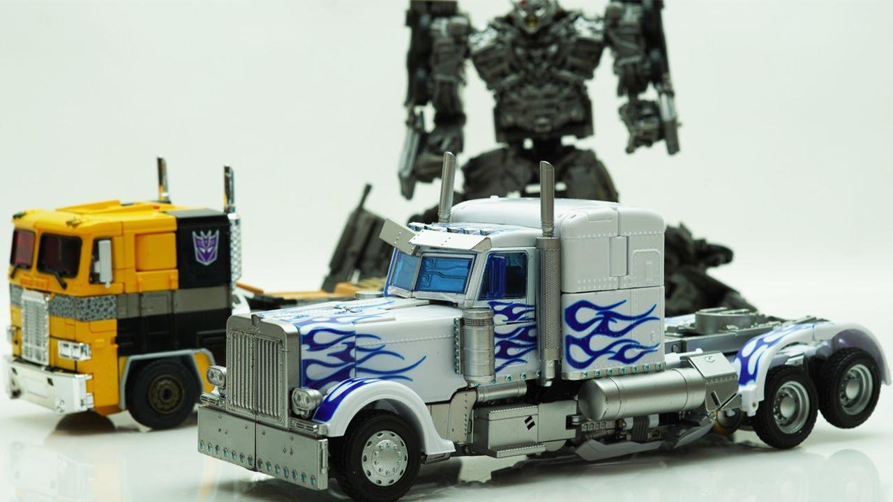 Transformers Optimus Prime LT02-W, Megatron SwiftTransform Stop Motion! Robot Truck Car in real life