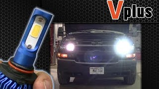 Vplus U Series LED Headlight Review 9005 High Beam Silverado