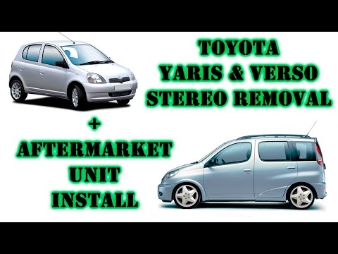 Toyota Yaris + Verso '99-'05 stereo removal + aftermarket headunit install