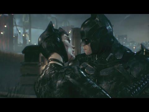 Batman Arkham Knight Batman and Catwoman Kiss and Say Goodbye