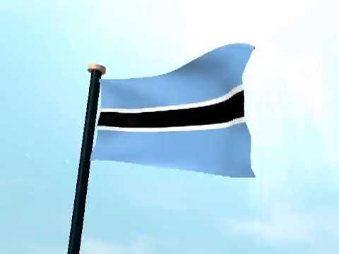 Botswana Flag 3D Live Wallpaper