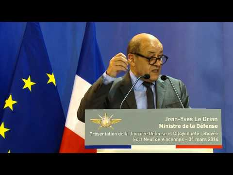 Inauguration de la nouvelle JDC par Jean-Yves Le Drian