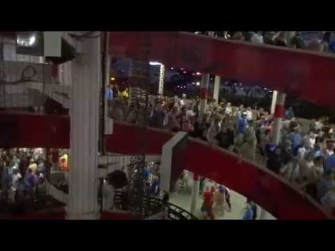 Kansas City Rolling Stones & Royals fans bang & chant their way out of Arrowhead Stadium 2015-06-27