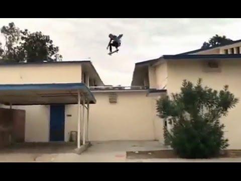 INSTABLAST! - Gnarly Roof Gap Skating!! NYC Street Skating!! Girl Skitching Car Slam!!