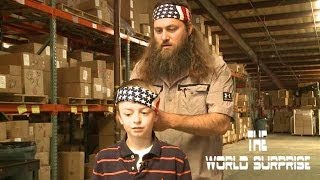 Soldier Surprises Family at Duck Commander