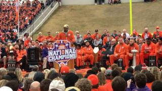 Deshaun Watson speaks at Clemson national title celebration