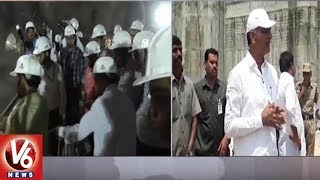 Minister Harish Rao Inspects Sundilla Barrage And Karakatta Project Works