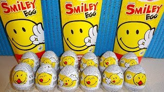 SMILEY World Collection 12 Surprise Eggs + Funny Face Ball Toys