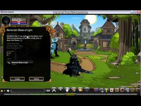 =AQW= How to get Behemoth Blade of Light/Shadow fast in Dark Mystic