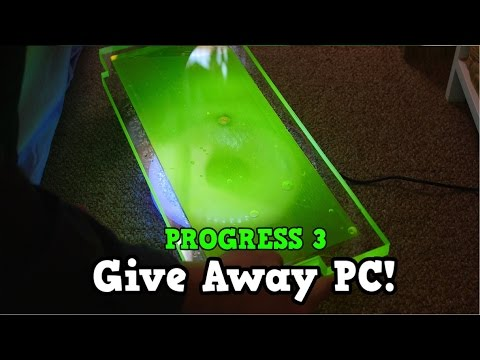 Custom Water cooled Gaming PC Build Giveaway World Wide - PROGRESS 3 DIY RESERVOIR Liquid Cooled