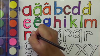drawing alphabets and Coloring pages for Learning Colors Kid Video tiếng việt