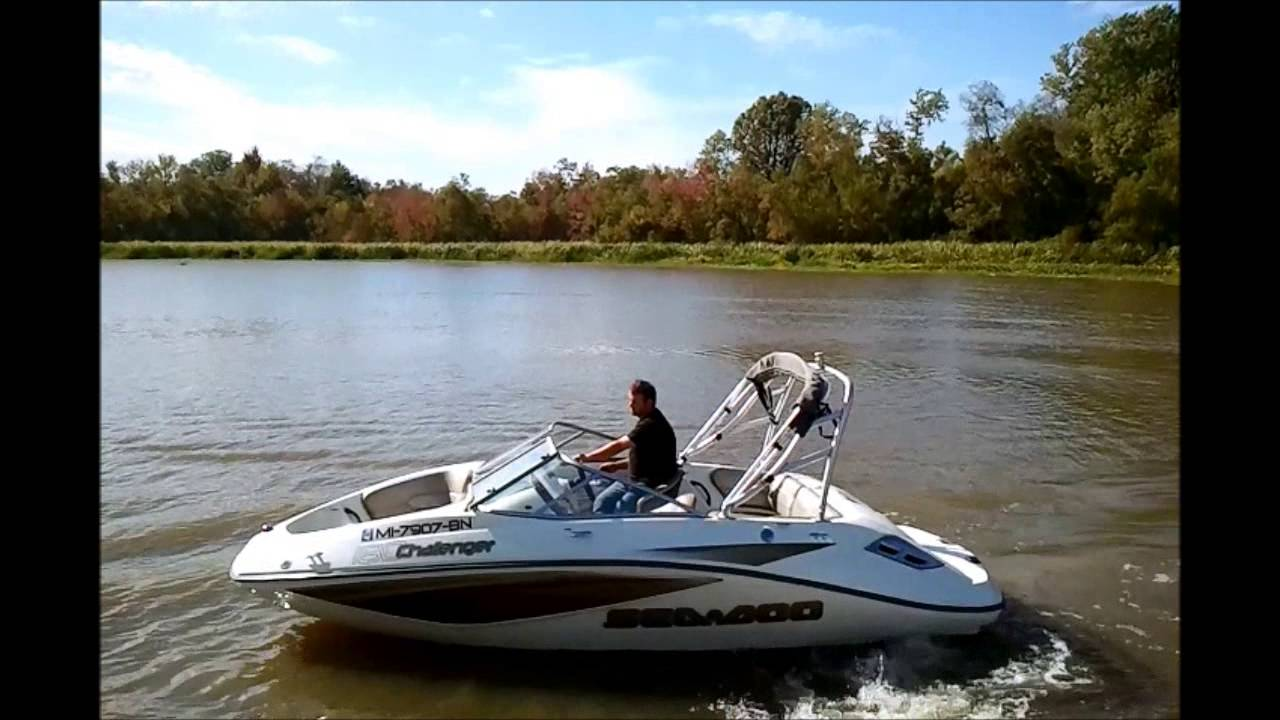 2007 Sea Doo Challenger 180 Se Video Test Drive Youtube