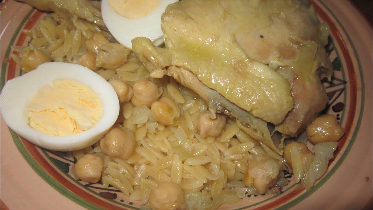 Tlitli au poulet sauce blanche recette cuisine algerienne youtube - Cuisine algerienne traditionnelle ...