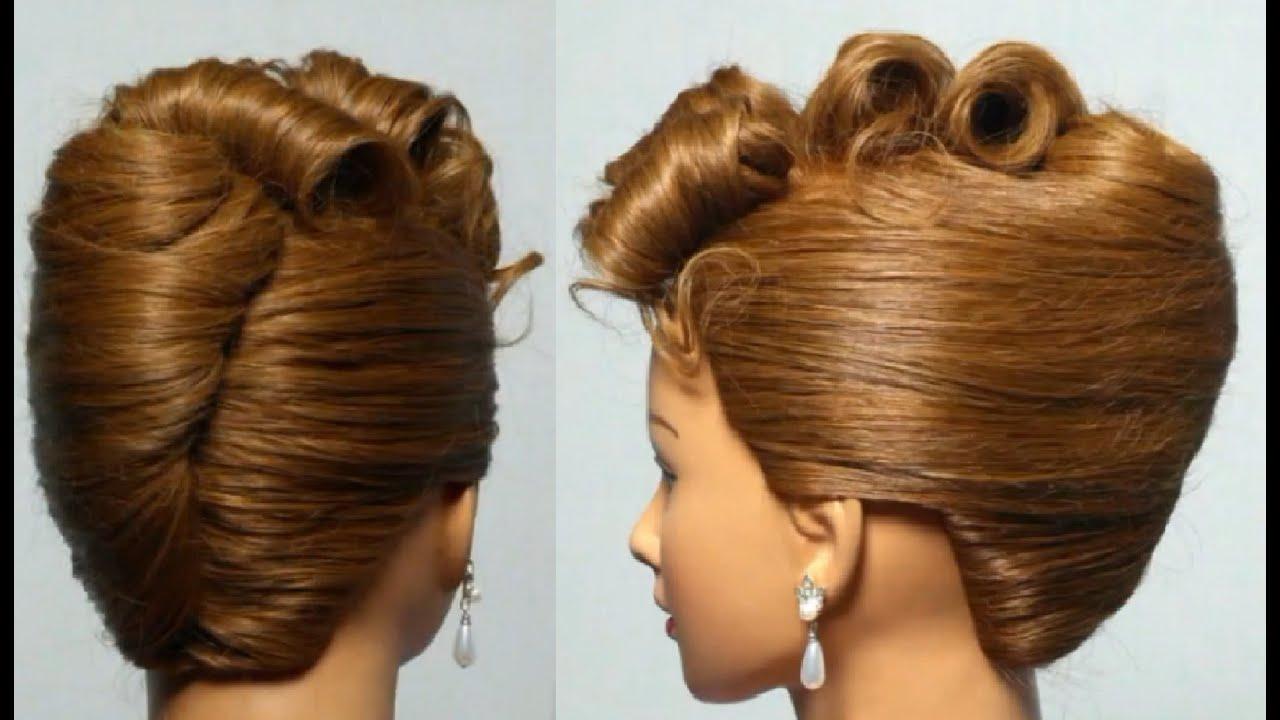 Причёски для средних волос праздничные