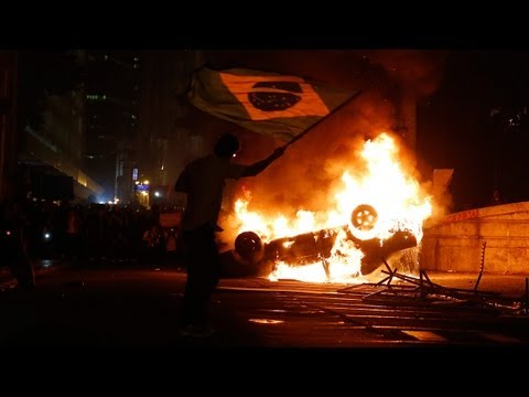 Biggest protests in 20 years sweep Brazil - no comment