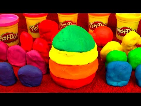 GIANT PLAY DOH EGG Spongebob Peppa Pig Disney Cars Toys Dora Mickey Mouse Barbie Lego Surprise Eggs