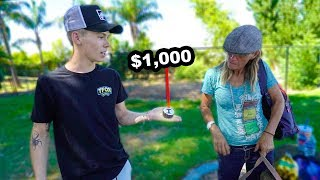 Giving Homeless People $1,000 AIRPODS