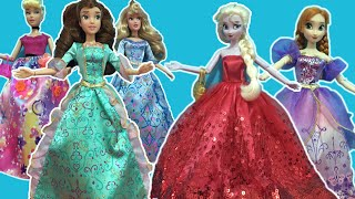 Disney Princess Dress up! Elsa Anna, Belle Aurora+Cinderella get ready for the Ball! Full mini Movie