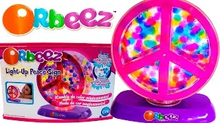 ORBEEZ Light-Up Peace Sign! Magically Grows in Water ORBEEZ Playset