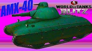 WoT Blitz обзор AMX 40 танк обзор новичкам погоня за AMX  французская ветка World of Tanks Blitz#37