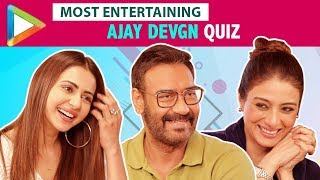 FUNNIEST BATTLE EVER: How Well Do Tabu & Rakul Preet Singh Know Ajay Devgn | De De Pyaar De